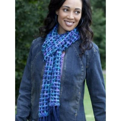 Caron Simply Soft Bluesy Scarf