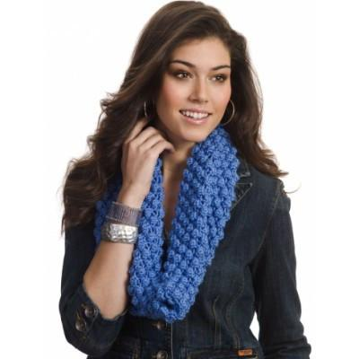 Caron Simply Soft Bobble Blackberry Cowl