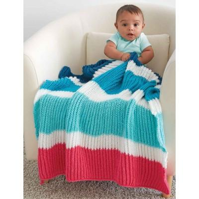Caron Simply Soft Bold Stripes Baby Blanket