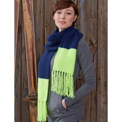 Caron Simply Soft Bold Stripes Scarf