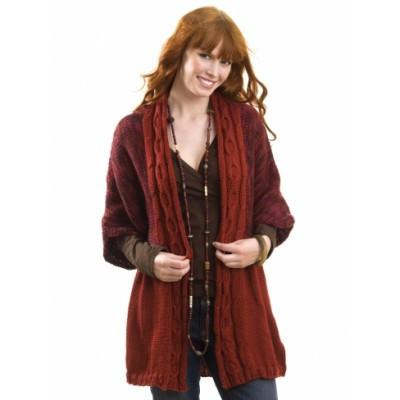 Caron Simply Soft Cable Front Cardigan