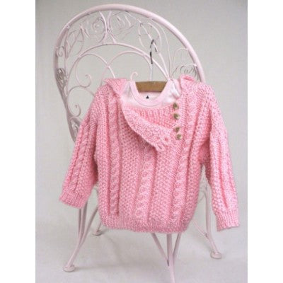 Caron Simply Soft Cabled Toddler Pullover