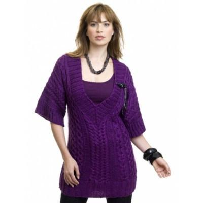 Caron Simply Soft Cabled Tunic