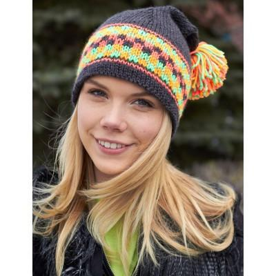 Caron Simply Soft Checkered Hat Womans
