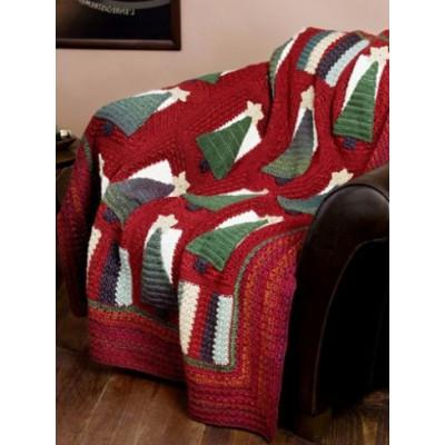 Caron Simply Soft Christmas Tree Throw