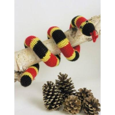 Caron Simply Soft Coral Snake Toy