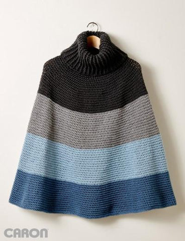 Caron Simply Soft Cozy Cowl Cape
