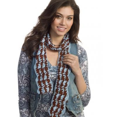 Caron Simply Soft Earth and Sky Scarf