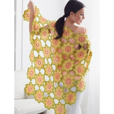 Caron Simply Soft Garden Flowers Shawl