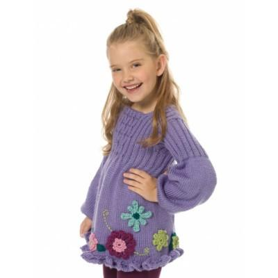 Caron Simply Soft Girls Smocked Tunic