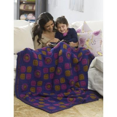 Caron Simply Soft Granny Got Color Throw