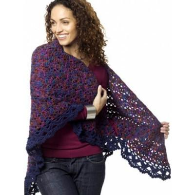 Caron Simply Soft Harlequin Shawl
