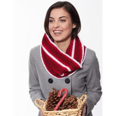 Caron Simply Soft Holiday Stripes Cowl