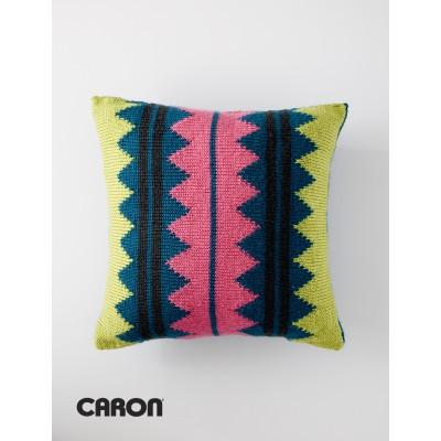 Caron Simply Soft In Vivid Color Pillow