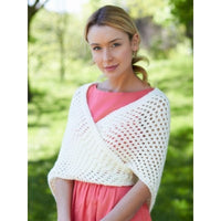 Caron Simply Soft Knit Triangular Shawl