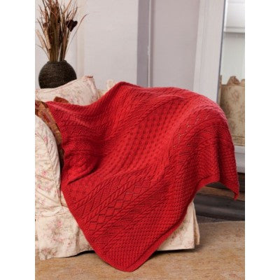 Caron Simply Soft Lace Panel Throw