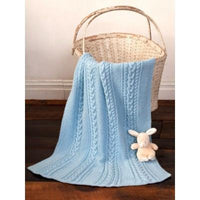 Caron Simply Soft Little Boy Blue Baby Blanket