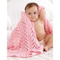 Caron Simply Soft Little Girl Pink Baby Blanket
