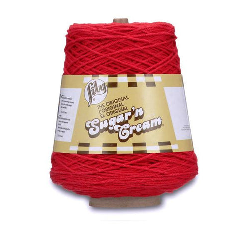 Lily® Sugar'n Cream® Cone Yarn Red