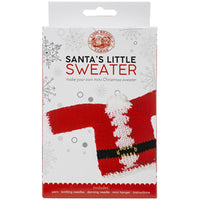 Lion Brand Yarn Santa's Little Sweaters Kit Santa Claus