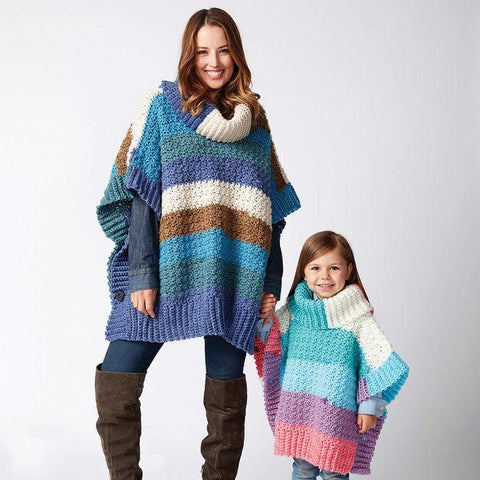 Bernat Mom and Me Crochet Ponchos