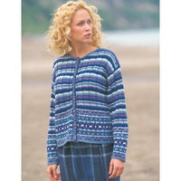 Patons Astra Fair Isle Plaid Cardigan