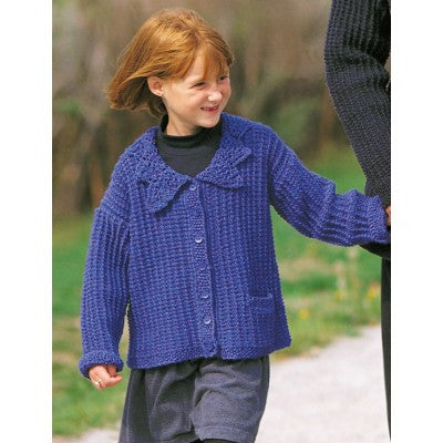 Patons Astra Lace Collared Cardigan (child)