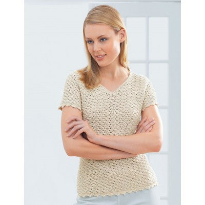 Patons Grace Pretty Vneck Top