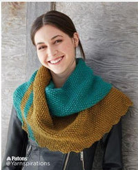 Patons Slash Stripe Knit Shawl Free Pattern