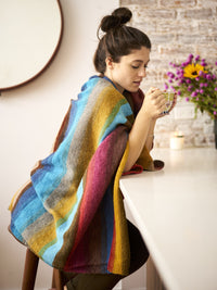 Simple Striped Blanket Knit B