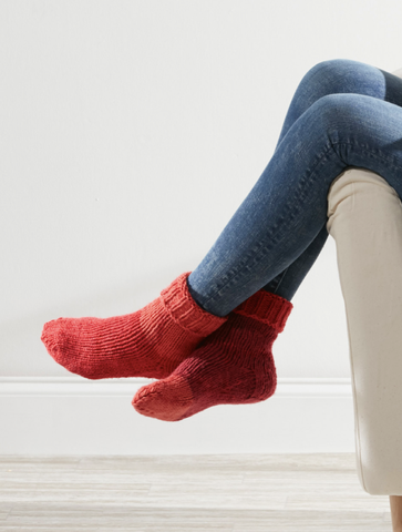 Sweet Slipper Socks Free Pattern