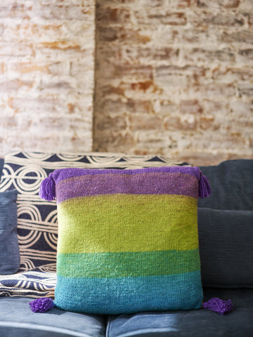 Tassel Trimmed Pillow Knit