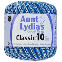 Aunt Lydia's Classic Crochet Thread Shaded Blues