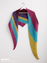 Bernat Knit Triangle Shawl
