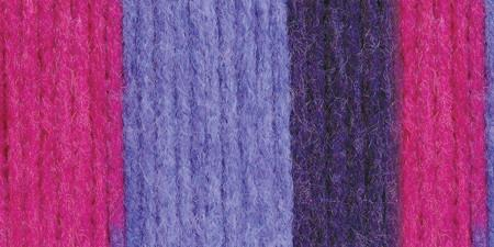 Bernat Super Value Stripes Yarn Wildberry