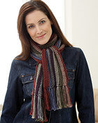 Bernat Satin Striped Scarf