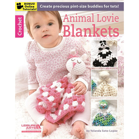 Leisure Arts Animal Lovie Blankets