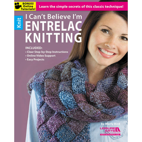 Leisure Arts I Can't Believe I'm Entrelac Knitting