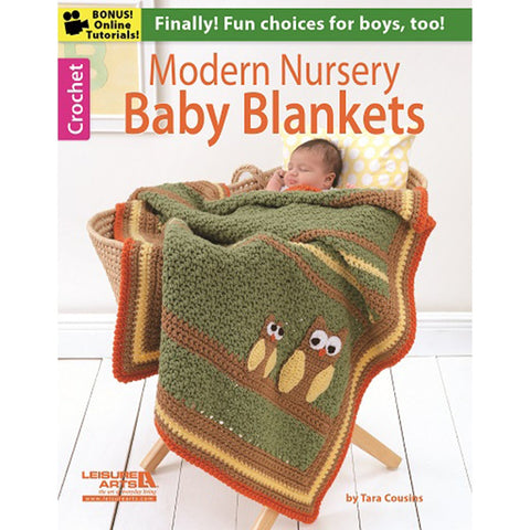 Leisure Arts Modern Nursery Baby Blankets
