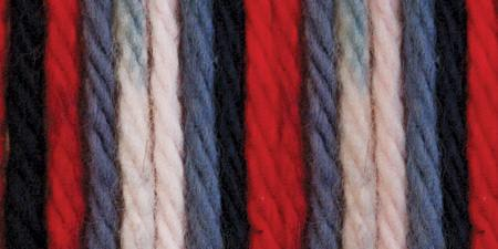 Lily Sugar'n Cream Yarn Ombres Red White Blue