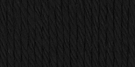 Lily Sugar'n Cream Yarn Solids Super Size Black