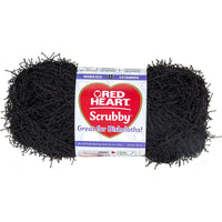 Red Heart Scrubby Yarn Black