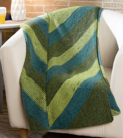 Simple Chevron Throw Free Knit Pattern