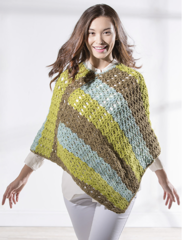Star Stitch Crochet Poncho Free Pattern