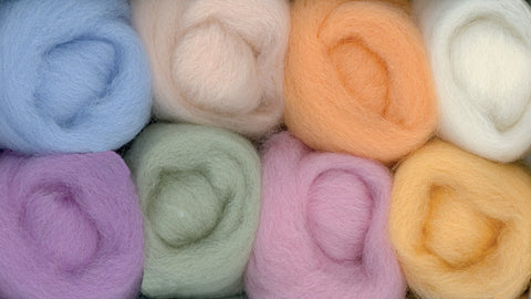 Wool Roving 12in 2 Ounces 8/Pkg Soft Pastels