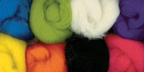 Wool Roving Assortments Brights