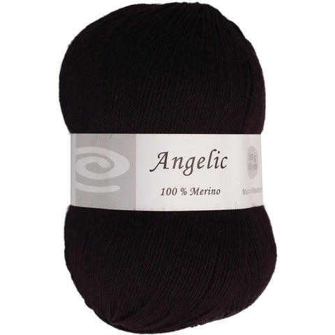 Elegant Yarns Angelic Yarn Charcoal Black
