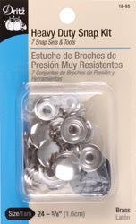 Heavy Duty Snap Kit 5/8in Nickel 7/Pkg