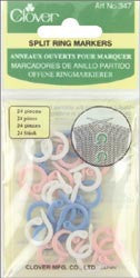 Split Stitch Marker Rings Assorted Sizes