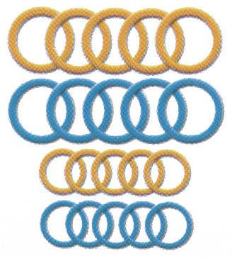 Soft Jumbo Stitch Ring Markers 20/Pkg